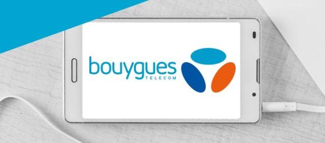 Logo Bouygues sur un smartphone.