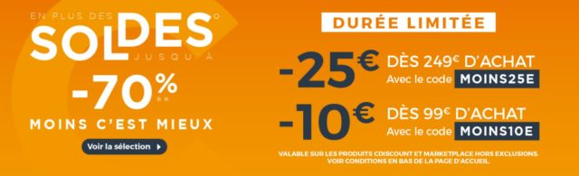 [Soldes] Cdiscount propose un coupon de 25 euros, voici notre sélection des 10 meilleures offres !
