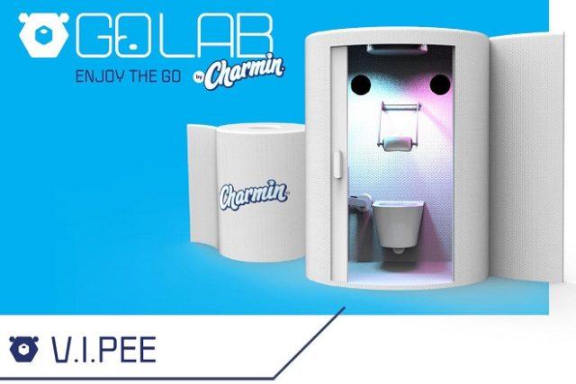 Les V.I.Pee des toilettes en VR par Charmin.