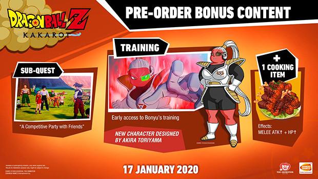 Les bonus de précommande de Dragon Ball Z: Kakarot