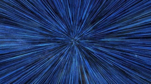 La vitesse de la lumière, telle qu'elle est matérialisé dans Star Wars.