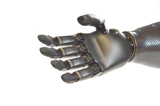 Une main de robot ou une prothèse bionique.