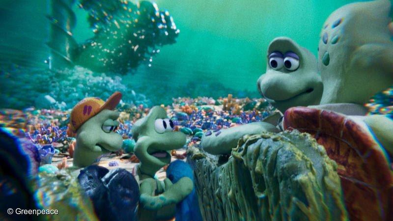 Les créateurs de Wallace et Gromit ont réalisé un film d'animation sur les océans pour Greenpeace