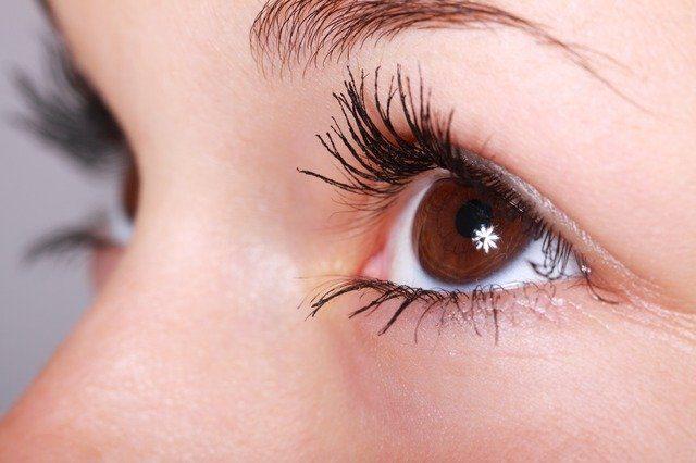 Des yeux marrons.