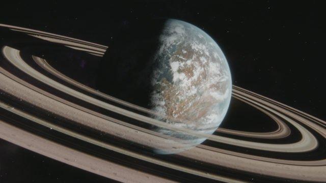 Une exoplanète dans Cosmos : Nouveaux Mondes.