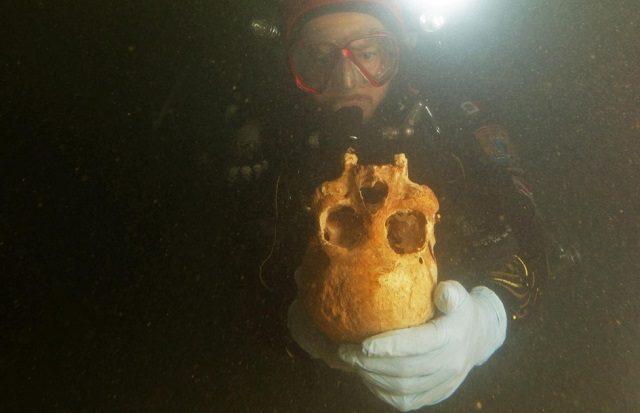 Un squelette découvert au Mexique.
