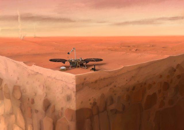 NASA InSight sur Mars.
