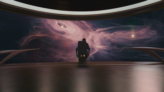 """Le """"vaisseau de l'imagination"""" à bord duquel Neil DeGrasse Tyson, le narrateur, nous transporte dans la série Cosmos : Nouveaux Mondes"""