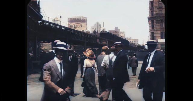 Des images recolorisées de New York en 1911.