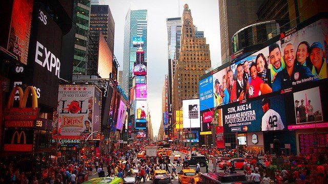 Times Square à New York.