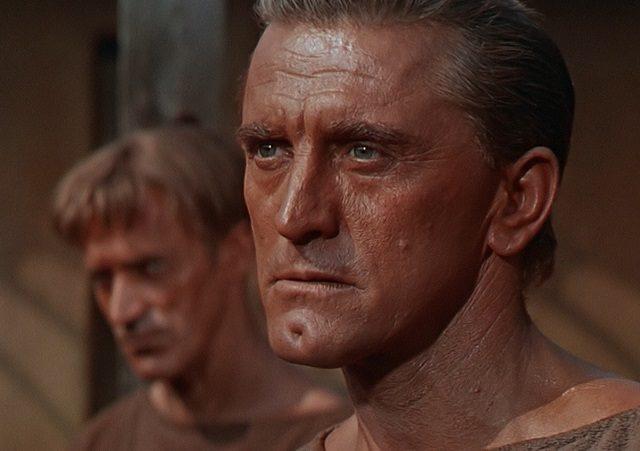 Kirk Douglas dans Spartacus.