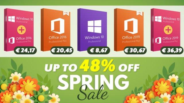 Vente De Printemps : Windows 10 Pro à 8,67 €, Office 2019