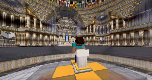 La bibliothèque de RSF sur Minecraft.