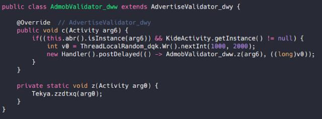Fonction contournée de « AdmobValidator » et appel de la fonction native interne