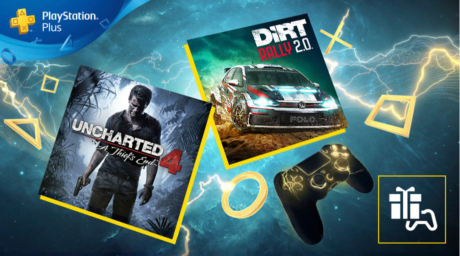 PlayStation Plus : Uncharted 4 et DiRT Rally 2.0 arrivent le 7 avril