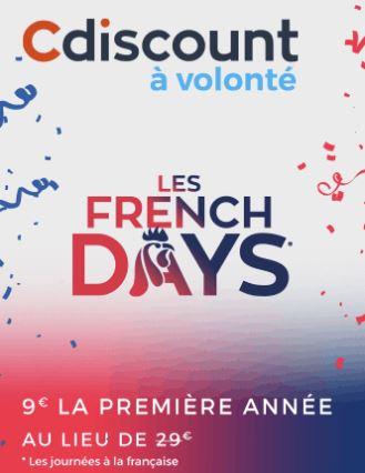 [French Days] L'option Cdiscount à Volonté à seulement 9 euros ! | Journal du Geek