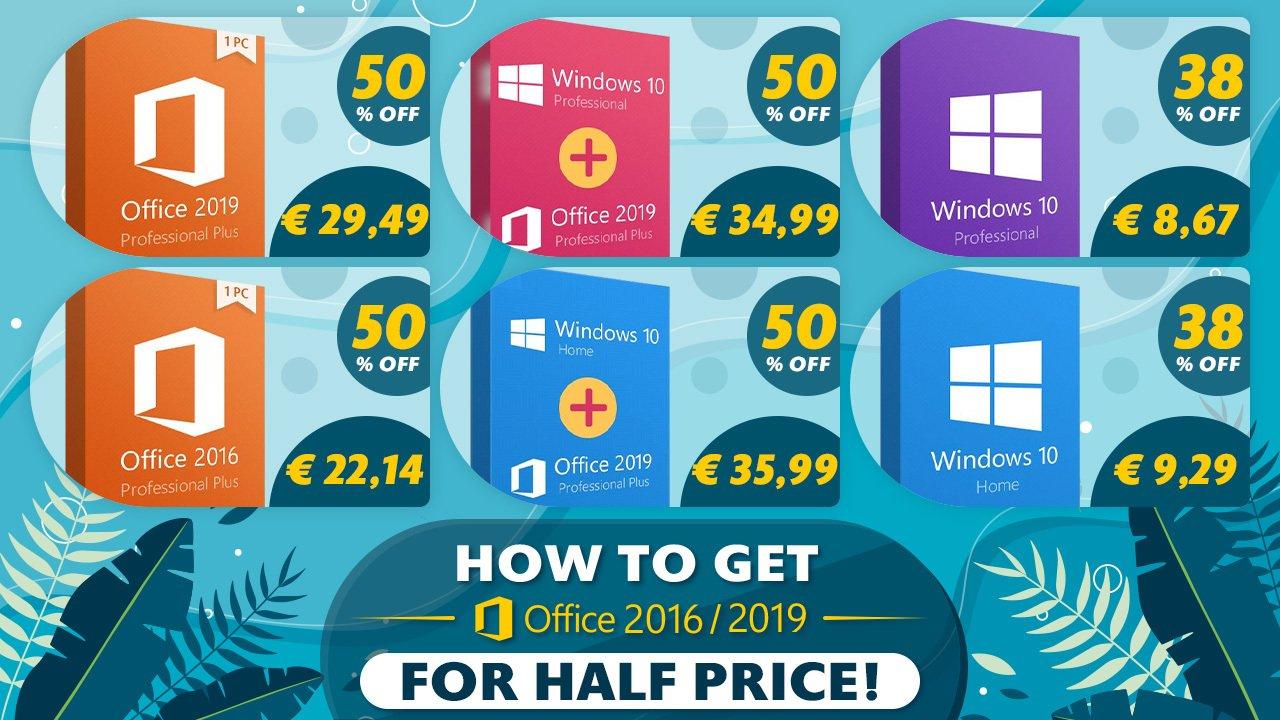 Offre d'été : profitez des logiciels Microsoft à -50% et de Windows 10 à 8.67€ ! | Journal du Geek
