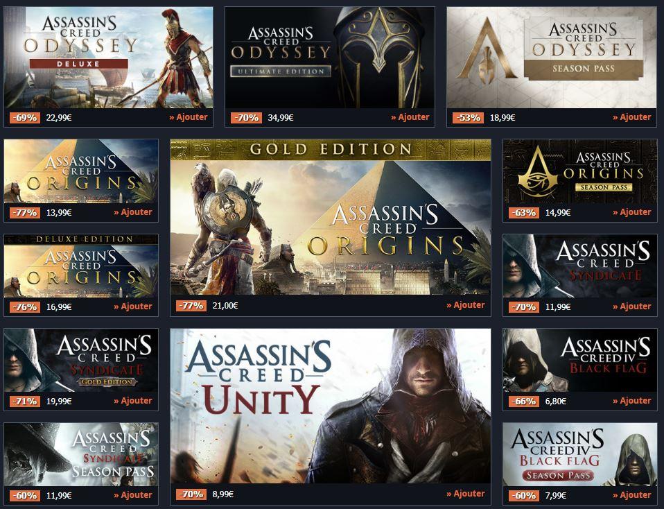 [Bon Plan] Jusqu'à 77% de réduction sur une sélection de jeux Ubisoft et d'autres chez Gamesplanet ! | Journal du Geek