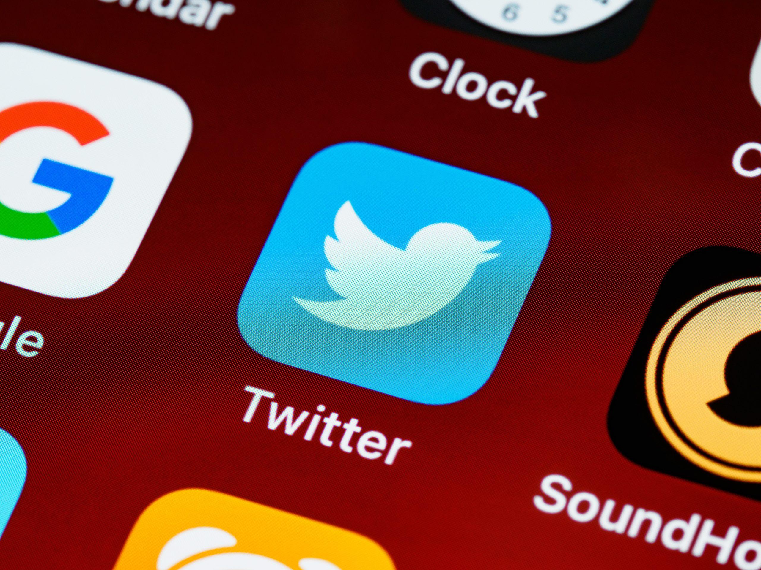 Logo application twitter