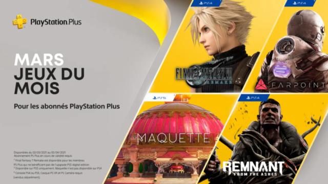 PlayStation Plus : Final Fantasy VII vous sera offert en mars !