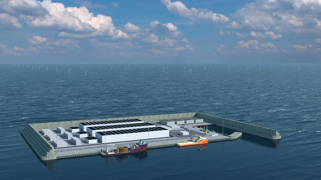 Danemark : une immense île artificielle pour récolter l'énergie produite par les éoliennes en pleine mer - Journal du geek