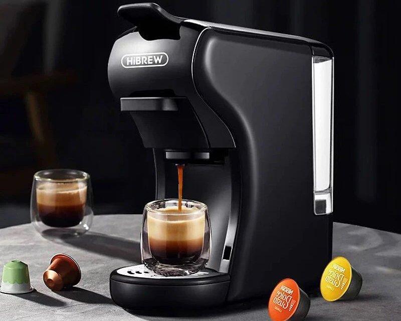 La machine à café expresso compatible avec Nespresso, Dolce Gusto, dosette et en poudre.