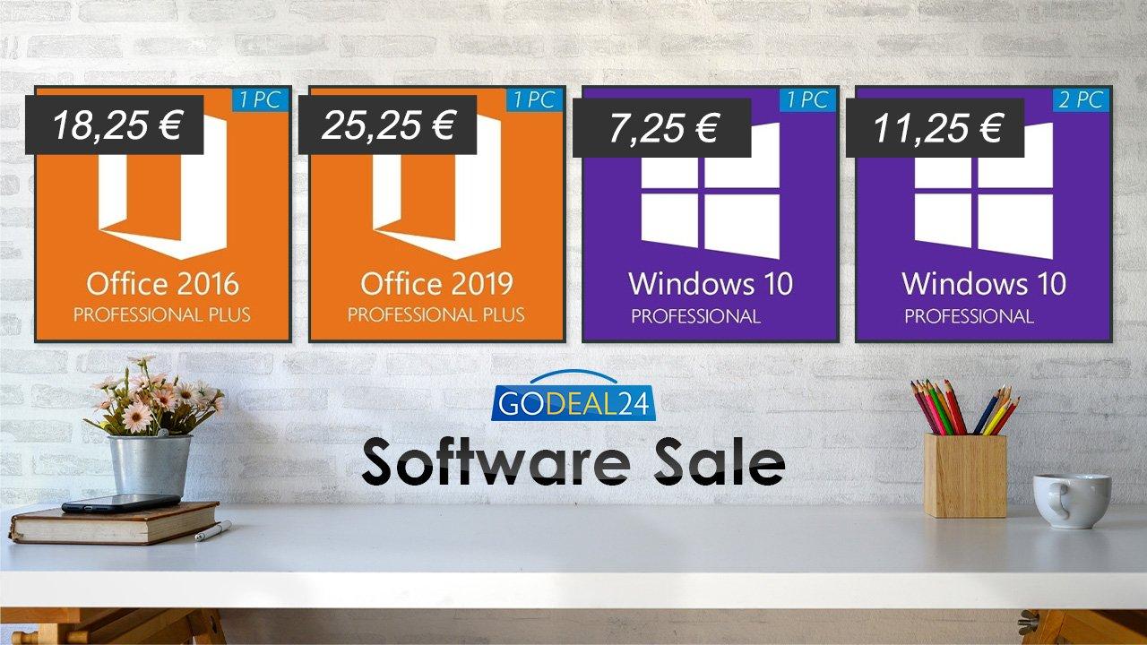 Prix Windows et Office sur GoDeal 24