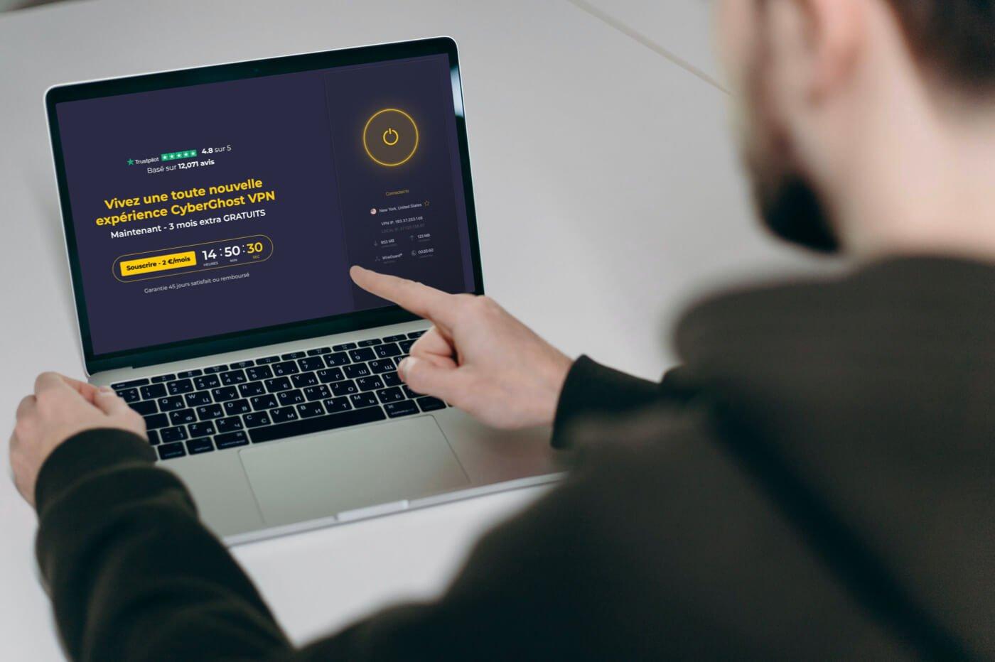 l'excellent VPN CyberGhost offre 83% de réduction à Pâques