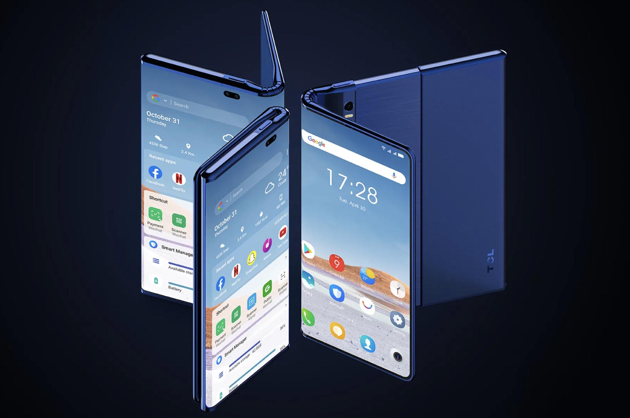 le concept de smartphone pliant/enroulable ultime ?