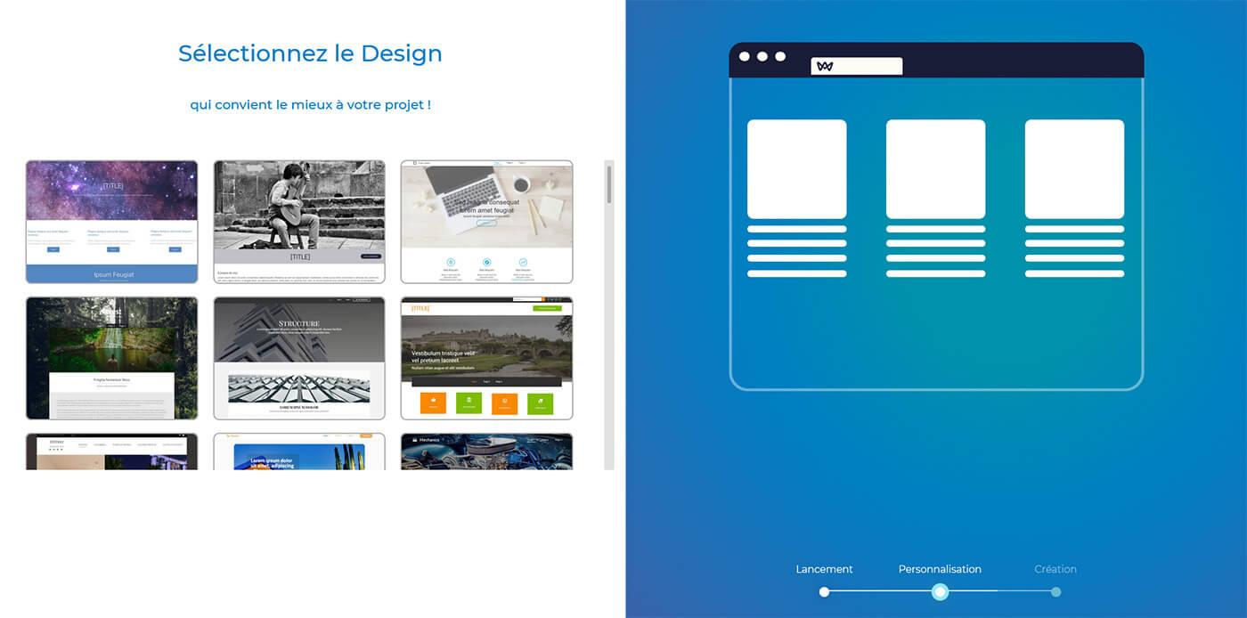 Choix design SiteW