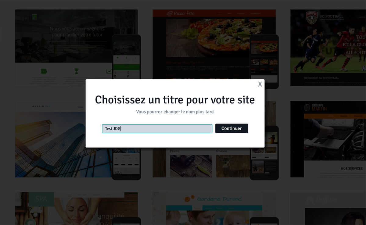 Choix titre site Internet WebSelf