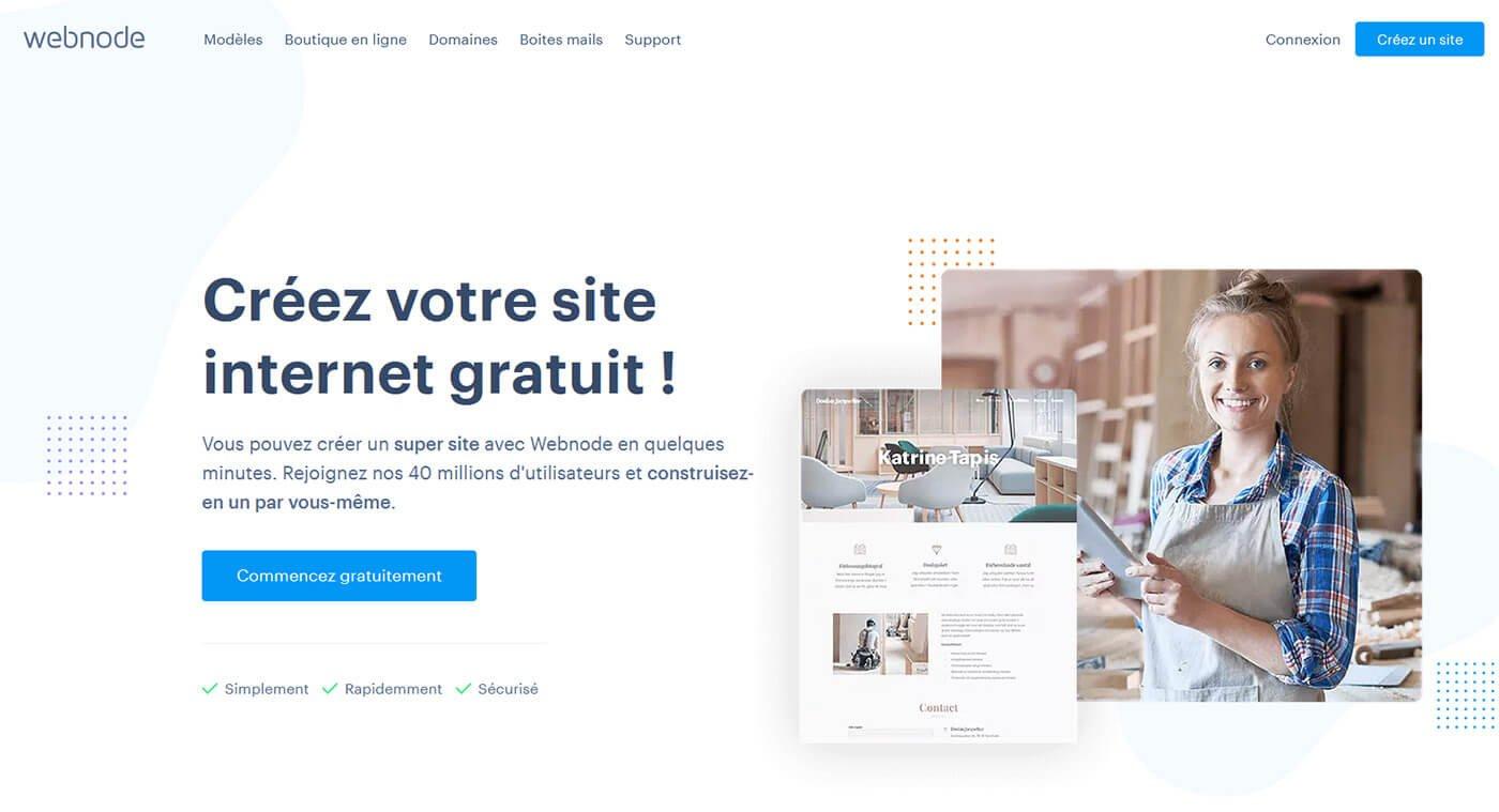 Créer site gratuit Webnode
