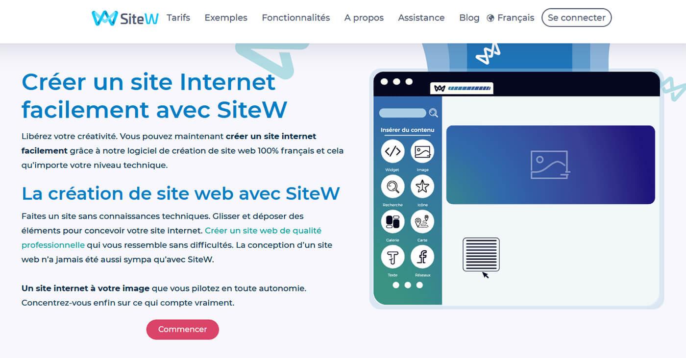 Créer site Internet gratuit SiteW