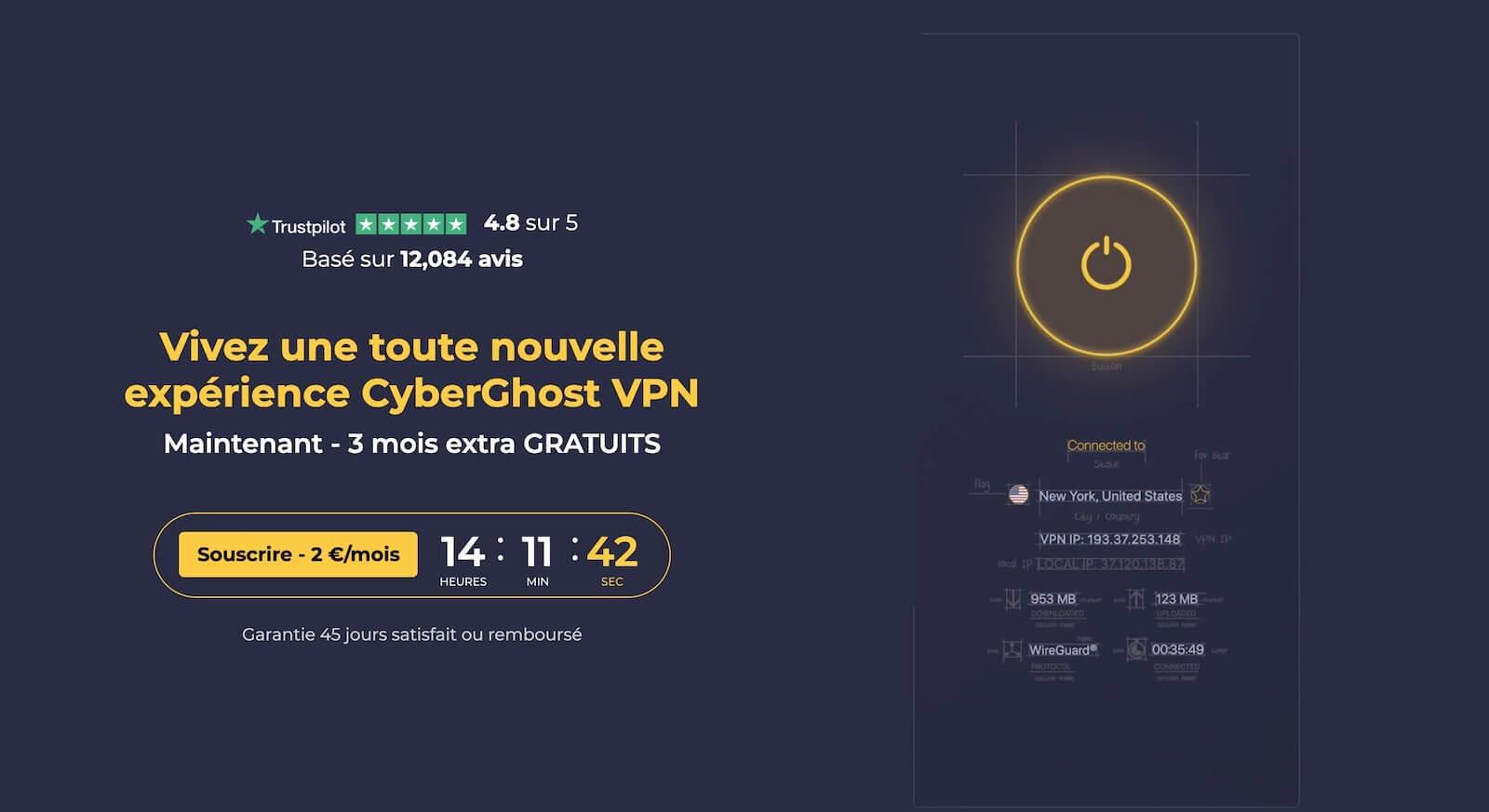 CyberGhost VPN pas cher