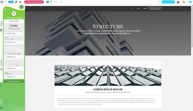 Editeur site SiteW