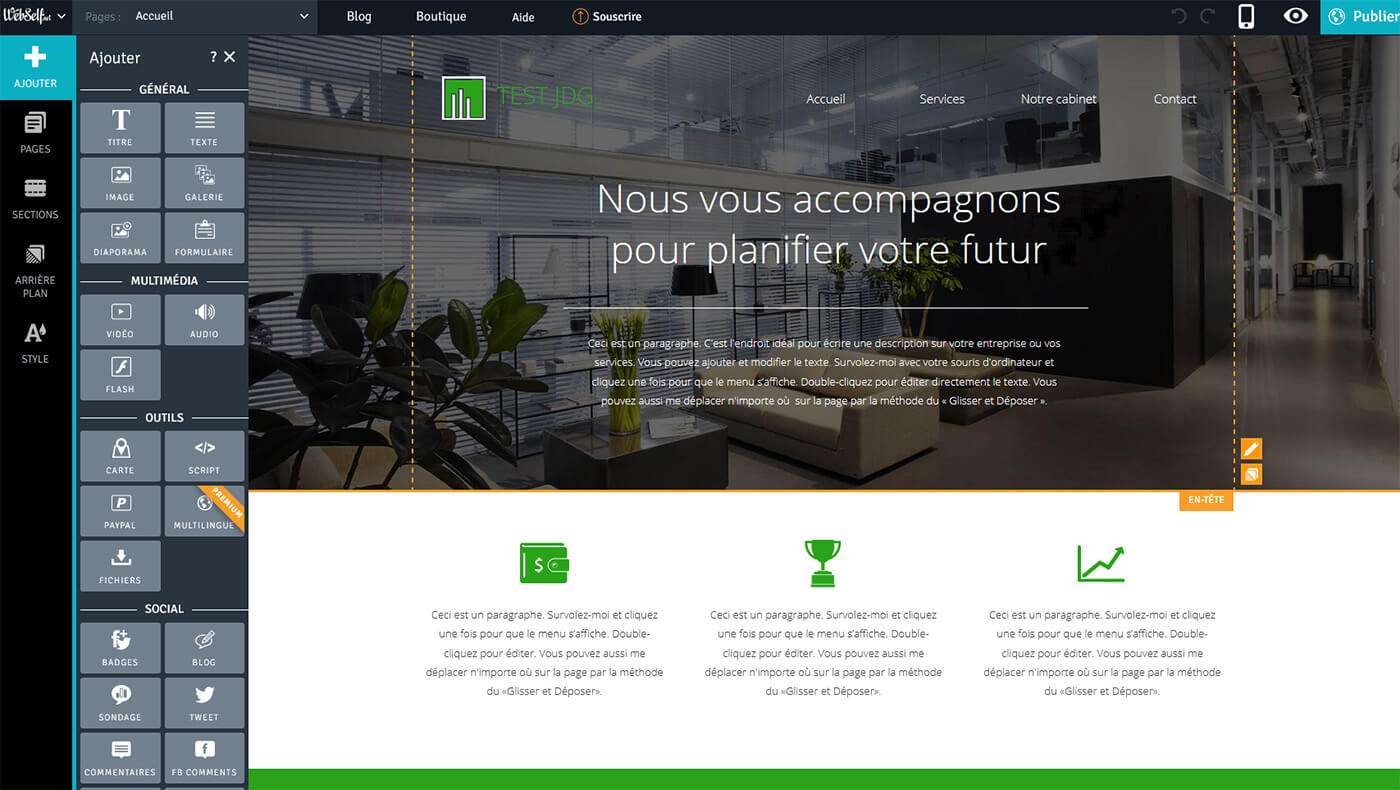 Editeur site WebSelf