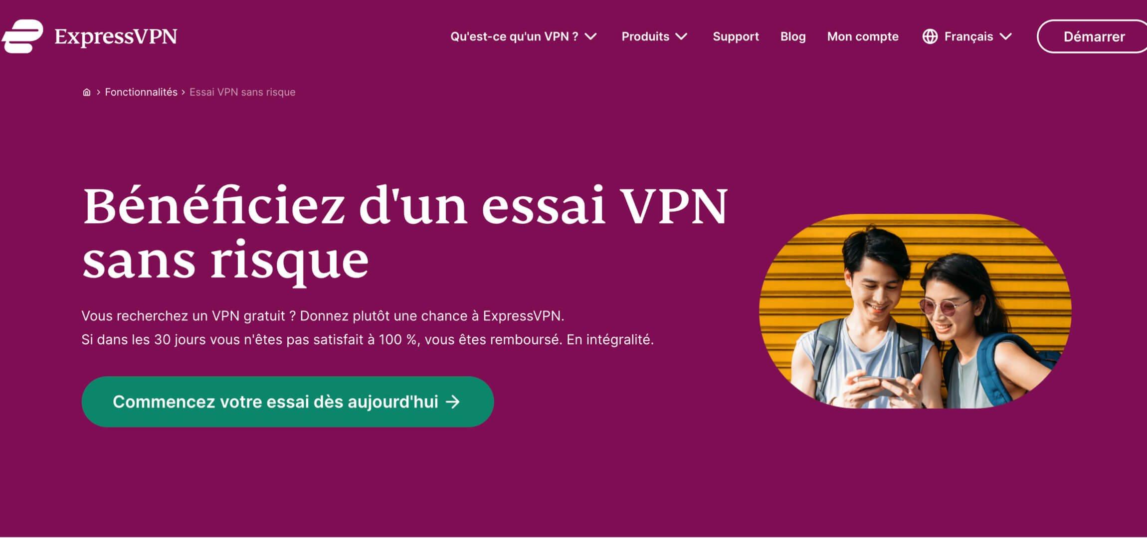 expressVPN gratuit