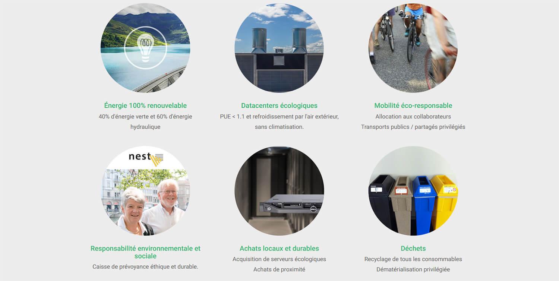 Hébergement web écologique Infomaniak