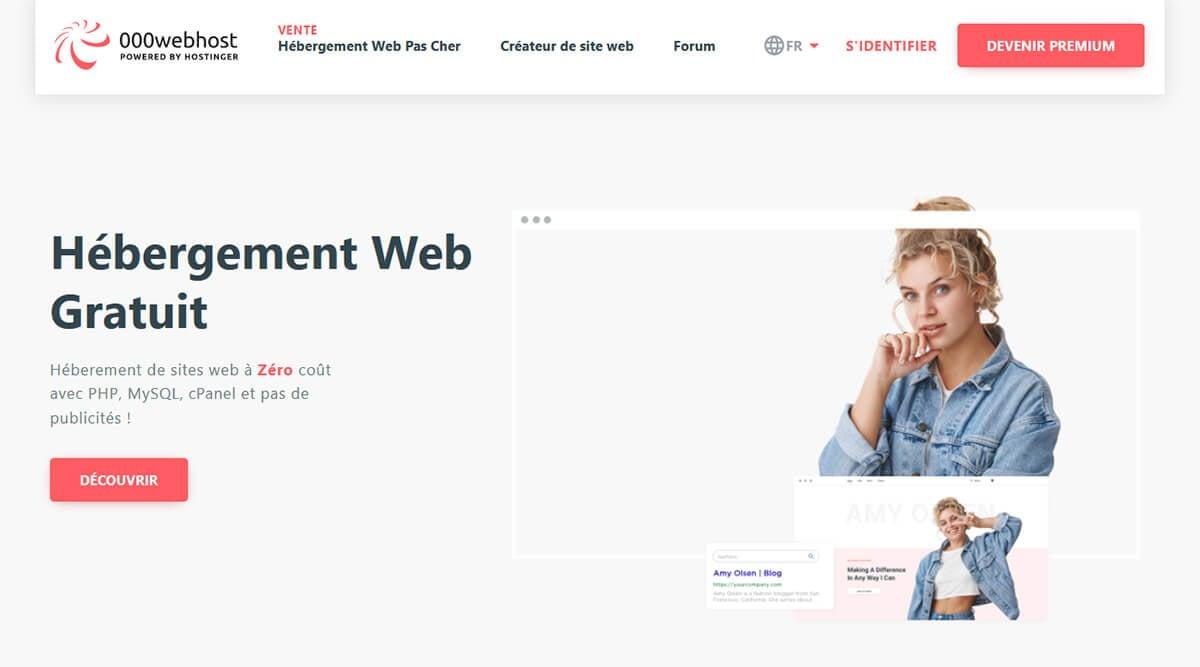 Hébergement web gratuit 000webhost