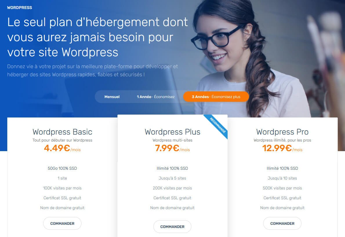 Hébergement WordPress Ex2
