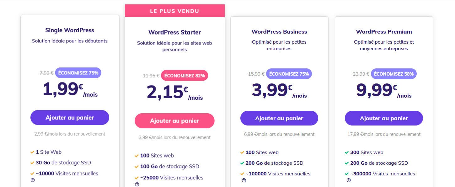 Hébergement WordPress Hostinger