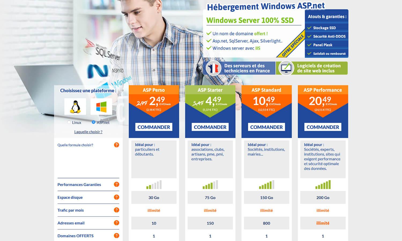 Hébergements Windows LWS
