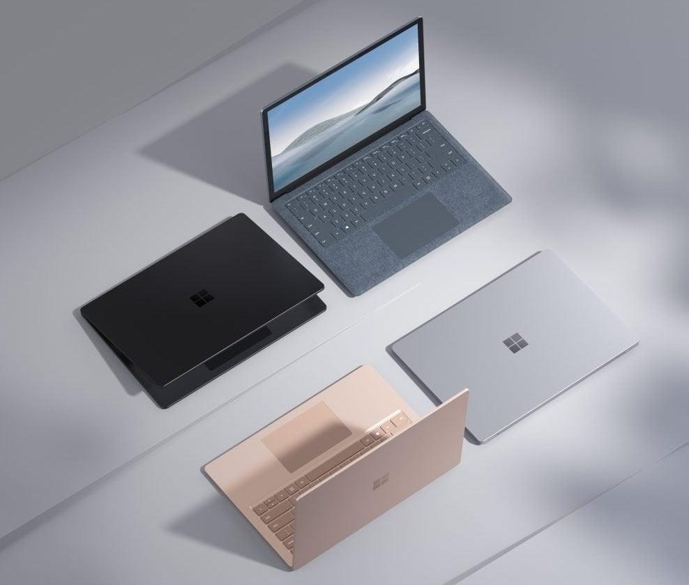 Nouveau Surface Laptop 4 mais aussi des casques, haut parleur et webcam chez Microsoft