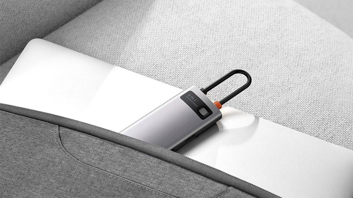 Le Hub USB-C de Baseus se range partout pour l'emporter avec soi.