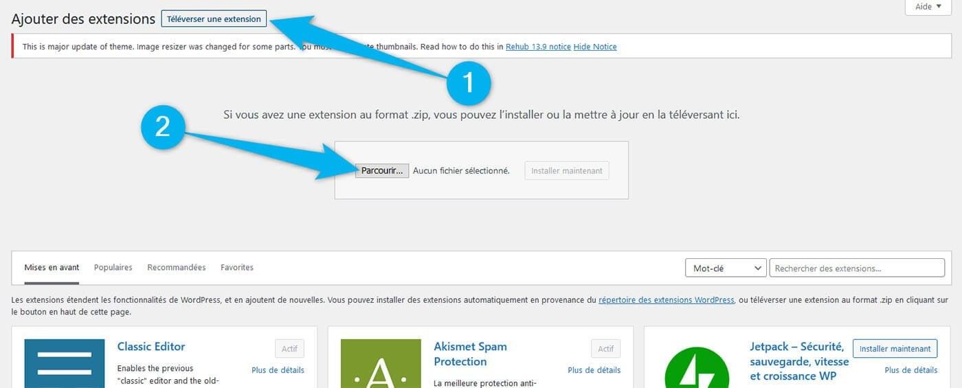 Installer manuellement plugin WordPress