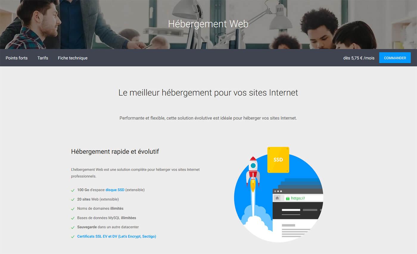 Offre hébergement web Infomaniak