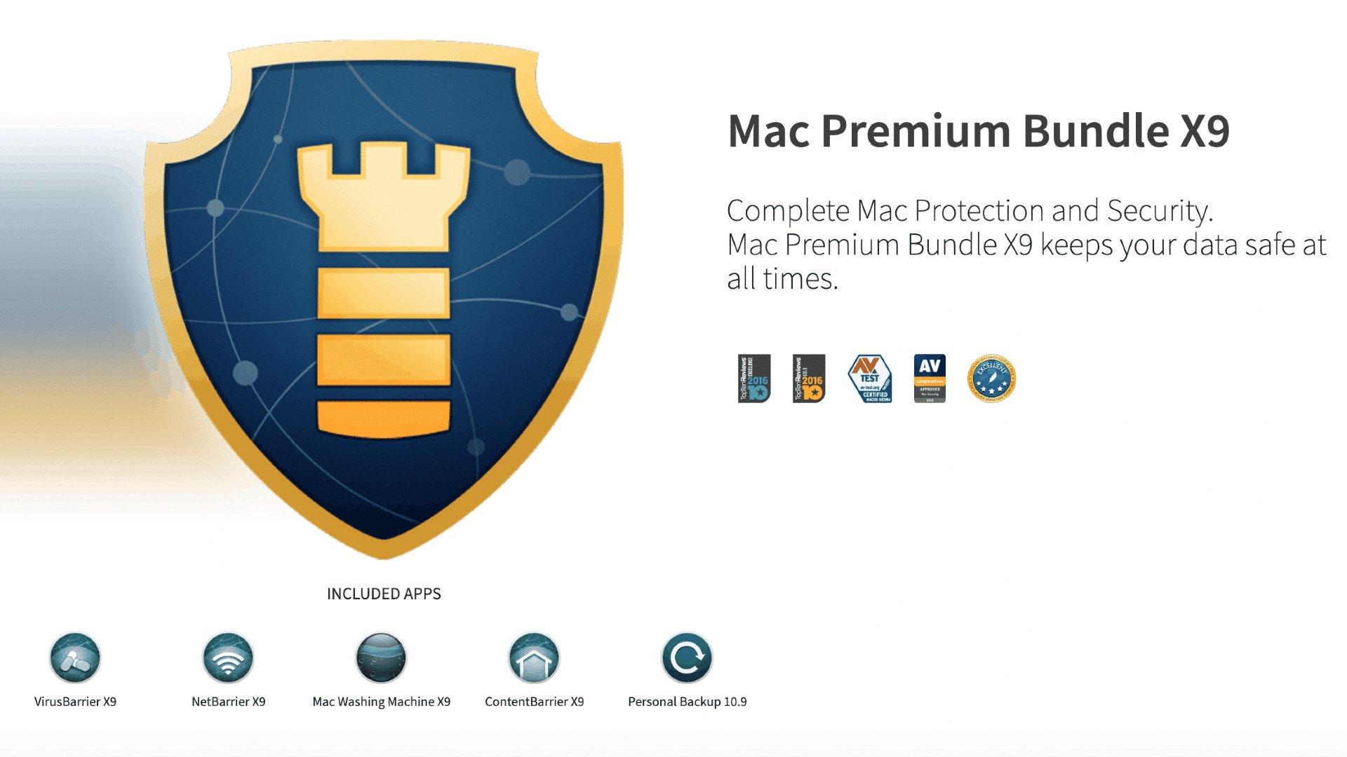 Premium Bundle X9, la formule qu'il vous faut pour protéger votre Mac et votre vie privée.