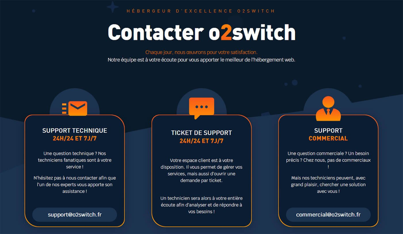Support client o2switch