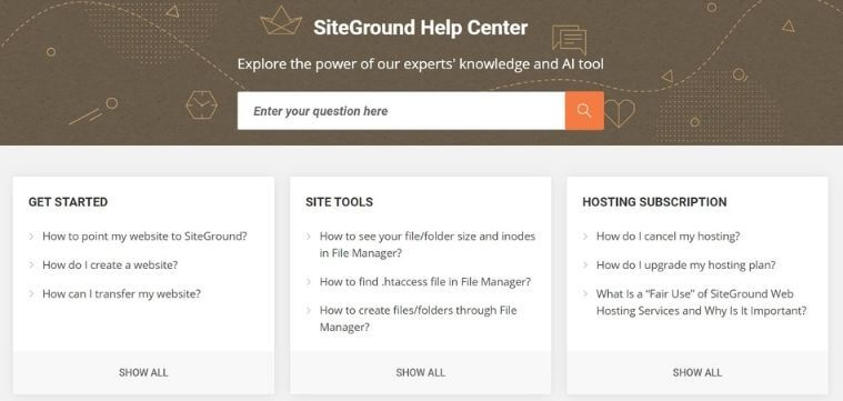 Support client SiteGround