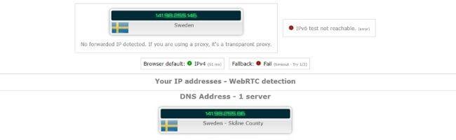 Adresse IP avec Mullvad VPN